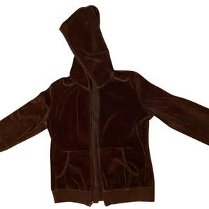 Brown zip up hoodie